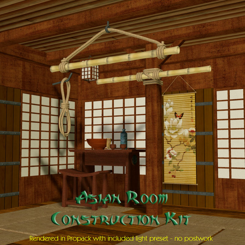 The Asian Room Construction Kit by Richabri