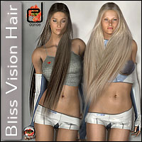 Bliss Vision Hair 3D Figure Assets danae