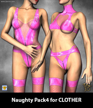 Naughty Pack4 for CLOTHER 3D Figure Assets zew3d