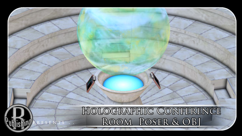 Holographic Conference Room Poser & OBJ by RPublishing