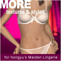 MORE Textures & Styles for Maiden Lingerie 3D Models 3D Figure Essentials motif