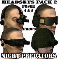 "Headsets Pack #2: ""NIGHT PREDATORS 3D Models coflek-gnorg"