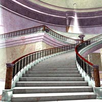 Majestic Lobby (Poser, VUE and OBJ) image 3