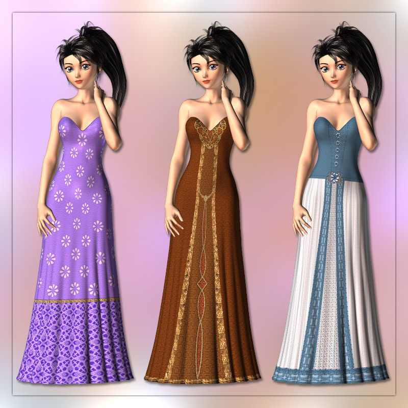 Gown and 6 Styles for Aiko 3 by karanta