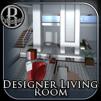 Designers Living Room (Poser & OBJ) 3D Models RPublishing