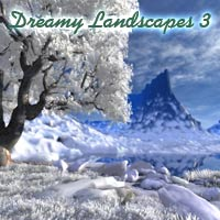 Dreamy Landscapes 3  - Blue Winter 2D Graphics 3D Models deadhead