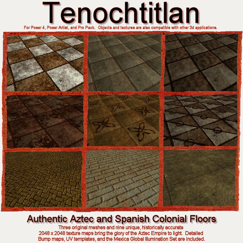 Tenochtitlan -- Aztec and Spanish Colonial Floors