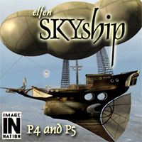 IN Elfen Skyship 3D Models winnston1984