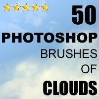50 Photoshop Brushes of Clouds 2D 3D Models designfera