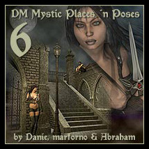 DM's Mystic Places 'n Poses 6 Props/Scenes/Architecture Characters Poses/Expressions Themed Danie