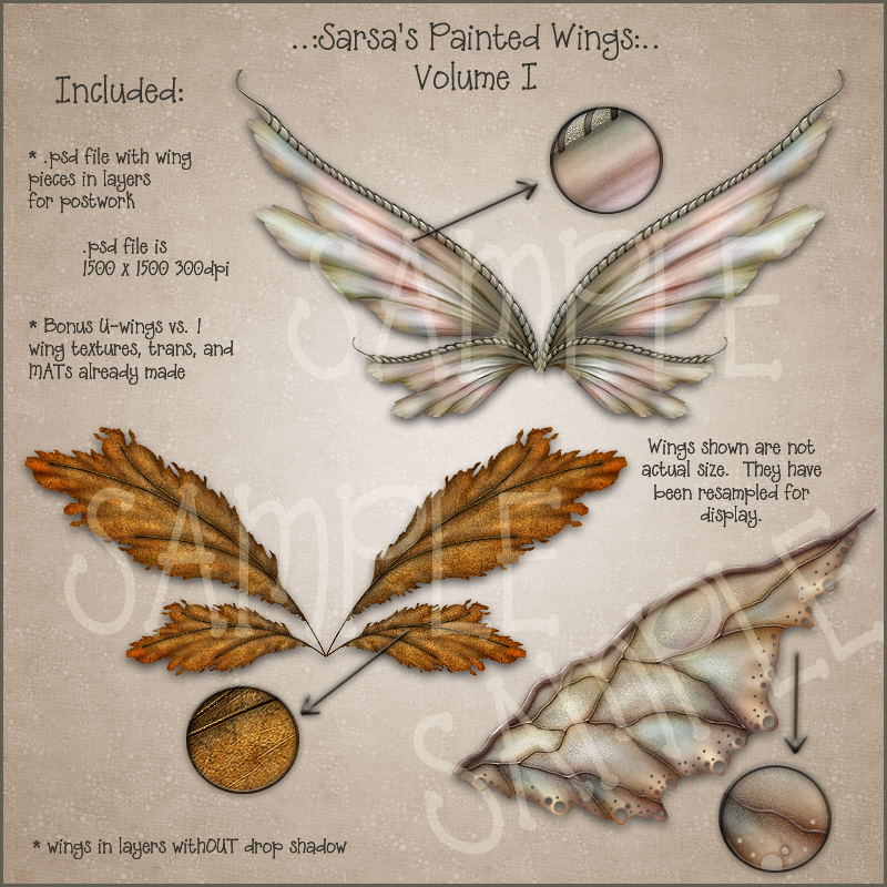 Sarsa's Painted Wings Volume I