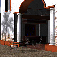 Mediterranean Coffee Place (Poser, Vue & OBJ) Software Props/Scenes/Architecture Themed RPublishing