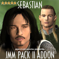 JMM PACK II ADDON - SEBASTIAN 3D Figure Essentials gillbrooks