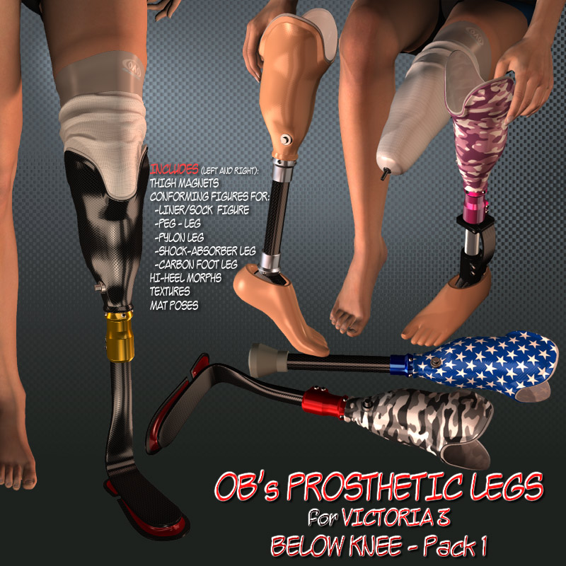 OB's Prosthetic Legs for V3 - Pack 1 below knee