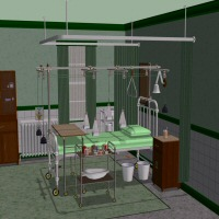HOSPITAL ROOM SET 3D Models ziggie