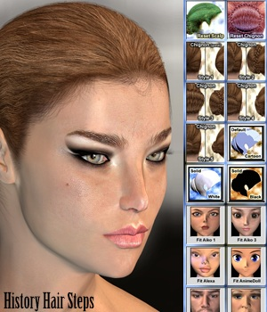 History Hair Steps 3D Figure Essentials Shahara