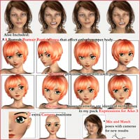 Expressions for Aiko 3 Realistic image 2