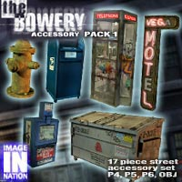 Bowery Exp. Pack 1 Street Accessories 3D Models winnston1984