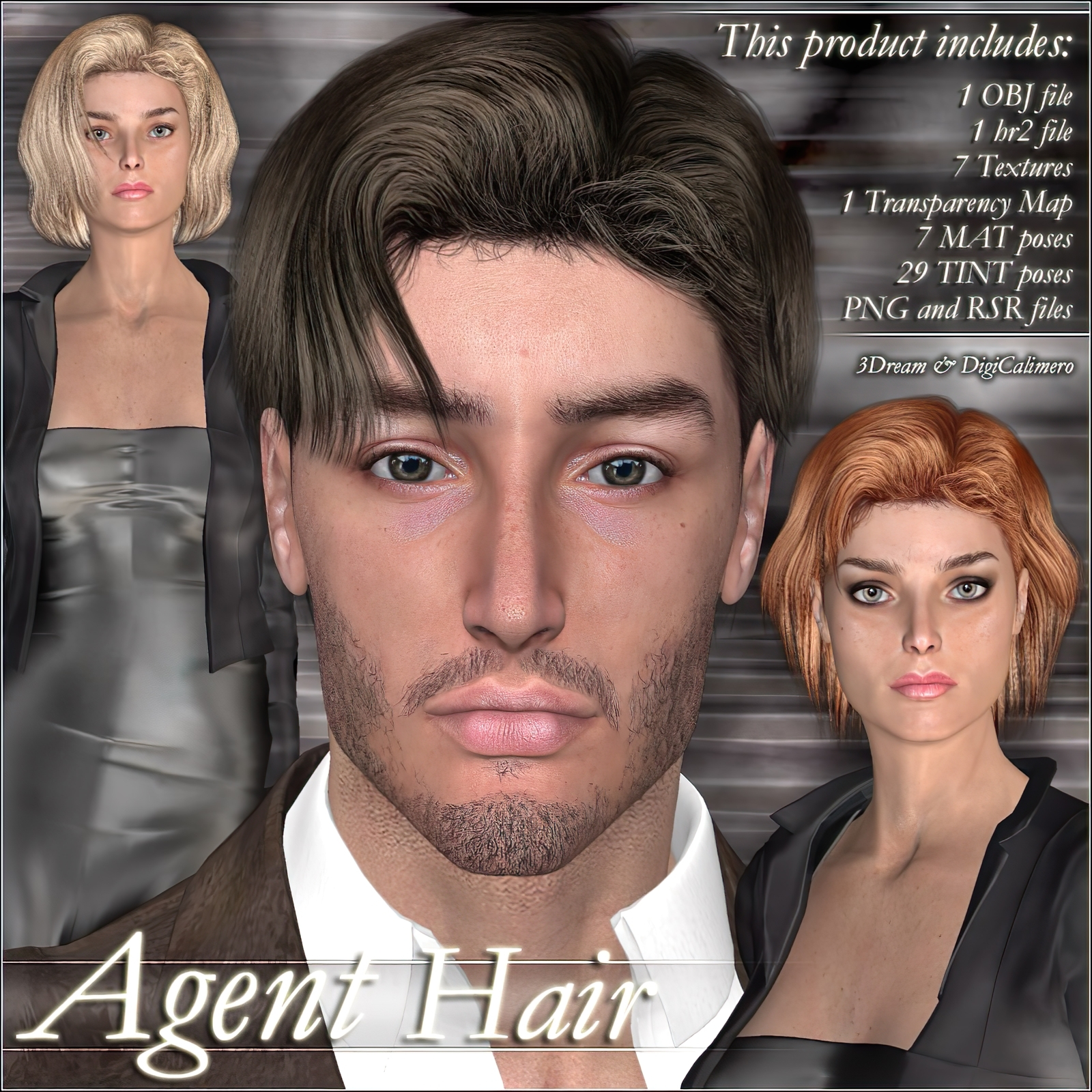 Agent Hair by 3Dream