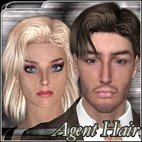 Agent Hair 3D Figure Assets 3Dream