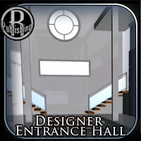 Designer Entrance Hall (Poser & OBJ) 3D Models RPublishing
