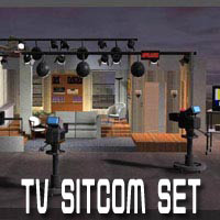 TV Sitcom Set 3D Models pzrite