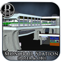 Monorail Station (Poser & OBJ) 3D Models RPublishing