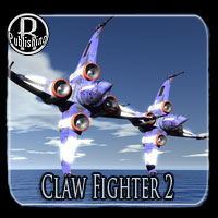 Claw Fighter 2 Poser,OBJ,Vue & LWO Themed Transportation RPublishing