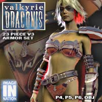 IN Valkyrie Draconis V3 Armor Set 3D Models winnston1984