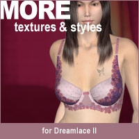 MORE Textures & Styles for Dreamlace II 3D Figure Essentials 3D Models motif