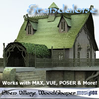 Elven Village Woodshaper 1.0 (E1V105-3DS) Props/Scenes/Architecture Themed chikako