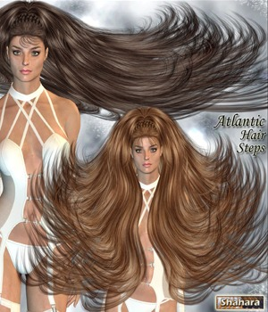 Atlantic Hair Steps 3D Figure Essentials Shahara