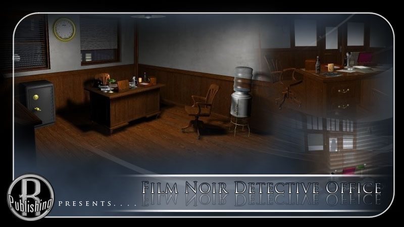 Film Noir Detective Office (Poser & Vue)