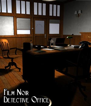 Film Noir Detective Office (Poser & Vue) 3D Models RPublishing