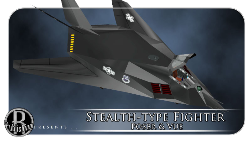 Stealth-type Fighter (Poser, OBJ & Vue)