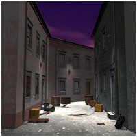 Decaying Alley (Poser, Vue & OBJ) Themed Props/Scenes/Architecture RPublishing
