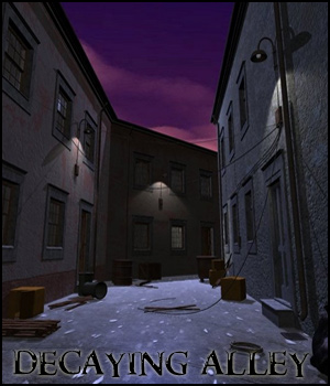 Decaying Alley (Poser, Vue & OBJ) 3D Models RPublishing