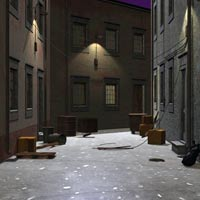 Decaying Alley (Poser, Vue & OBJ) image 6