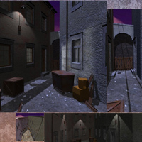 Decaying Alley (Poser, Vue & OBJ) image 1