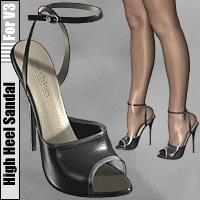 High Heel Sandal for V3 3D Figure Essentials idler168