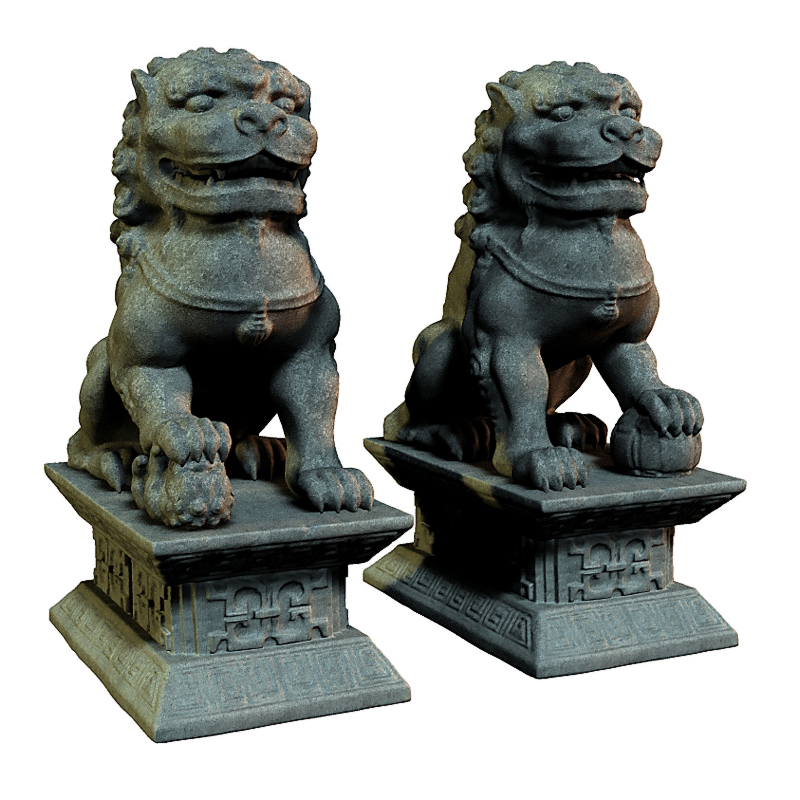 Guardian Lion Statues