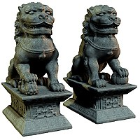 Guardian Lion Statues 3D Models the hankster