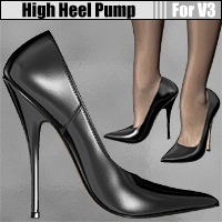 High Heel Pump for V3 3D Figure Essentials idler168