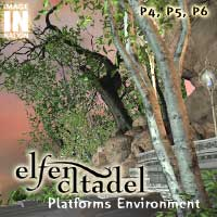 Elfen Citadel: Platforms Environment Pack 3D Models winnston1984