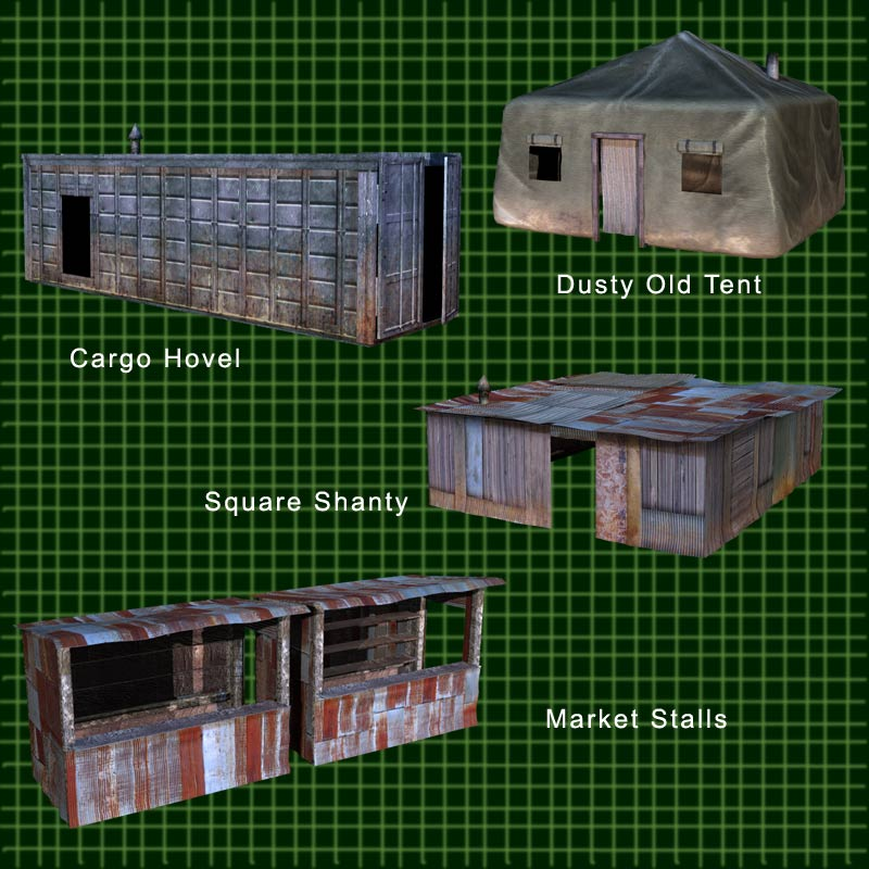 FORT APOCALYPSE SET 2- Set Design Kit for a Darker Future