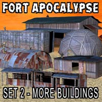 FORT APOCALYPSE SET 2- Set Design Kit for a Darker Future Props/Scenes/Architecture Themed kalebdaark