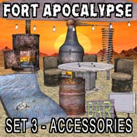 FORT APOCALYPSE SET 3- Set Design Kit for a Darker Future 3D Models kalebdaark