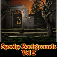 Spooky Backgrounds Vol 2 2D 3D Models Laksmi