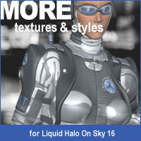 MORE Textures & Styles for Liquid Halo v1 3D Models 3D Figure Assets motif