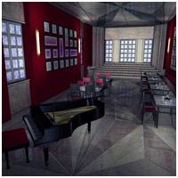 Chic Restaurant (Poser, Vue & OBJ) 3D Models RPublishing